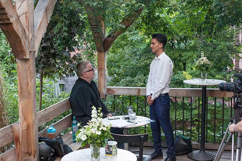 Im Gespräch: Herbert Grönemeyer und Samiullah Rasouli | Foto © Rottkay
